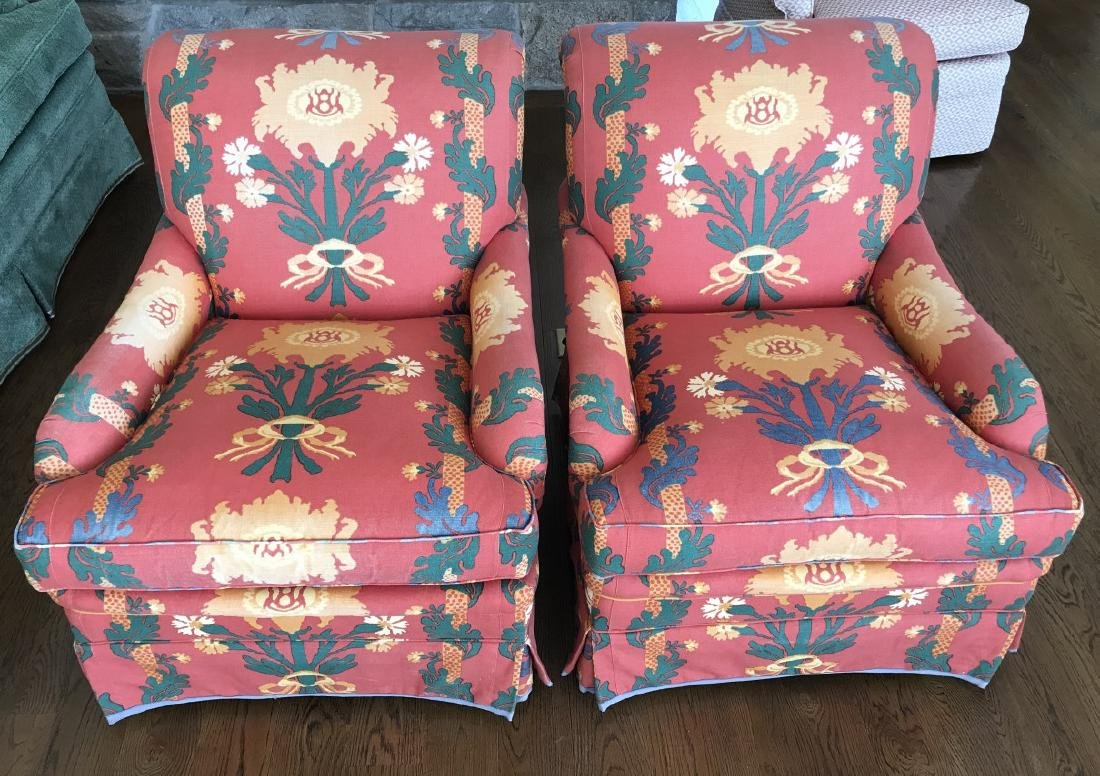 Pair of Contemporary Custom Upholstered Armchairs
