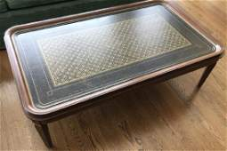Custom Contemporary Gold Leaf Design Coffee Table