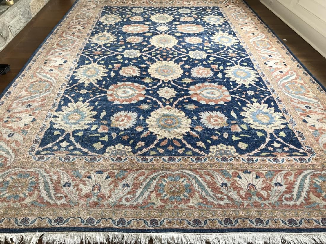 Large Hand Knotted Wool Persian Oriental Carpet
