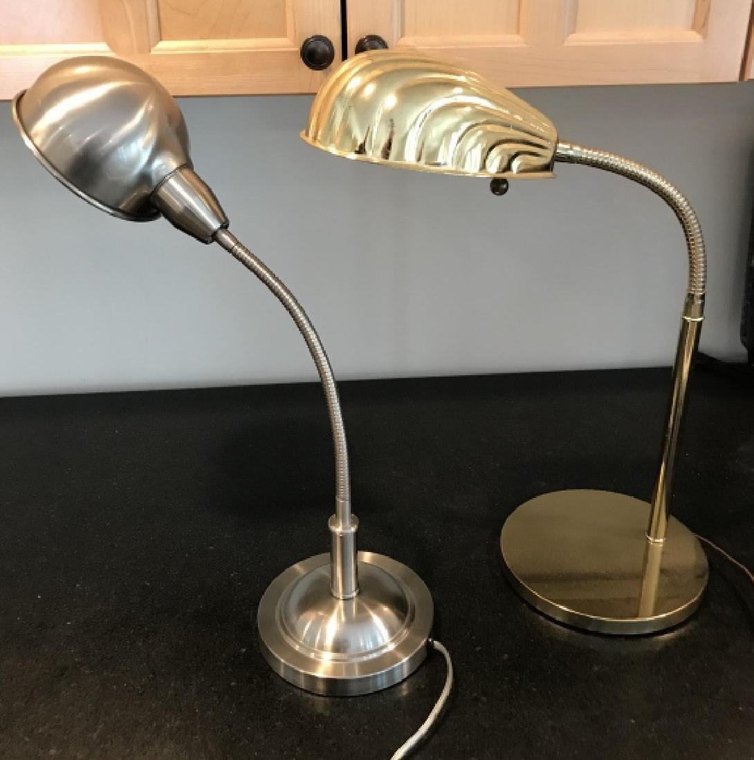 Two Contemporary Desk or Table Lamps