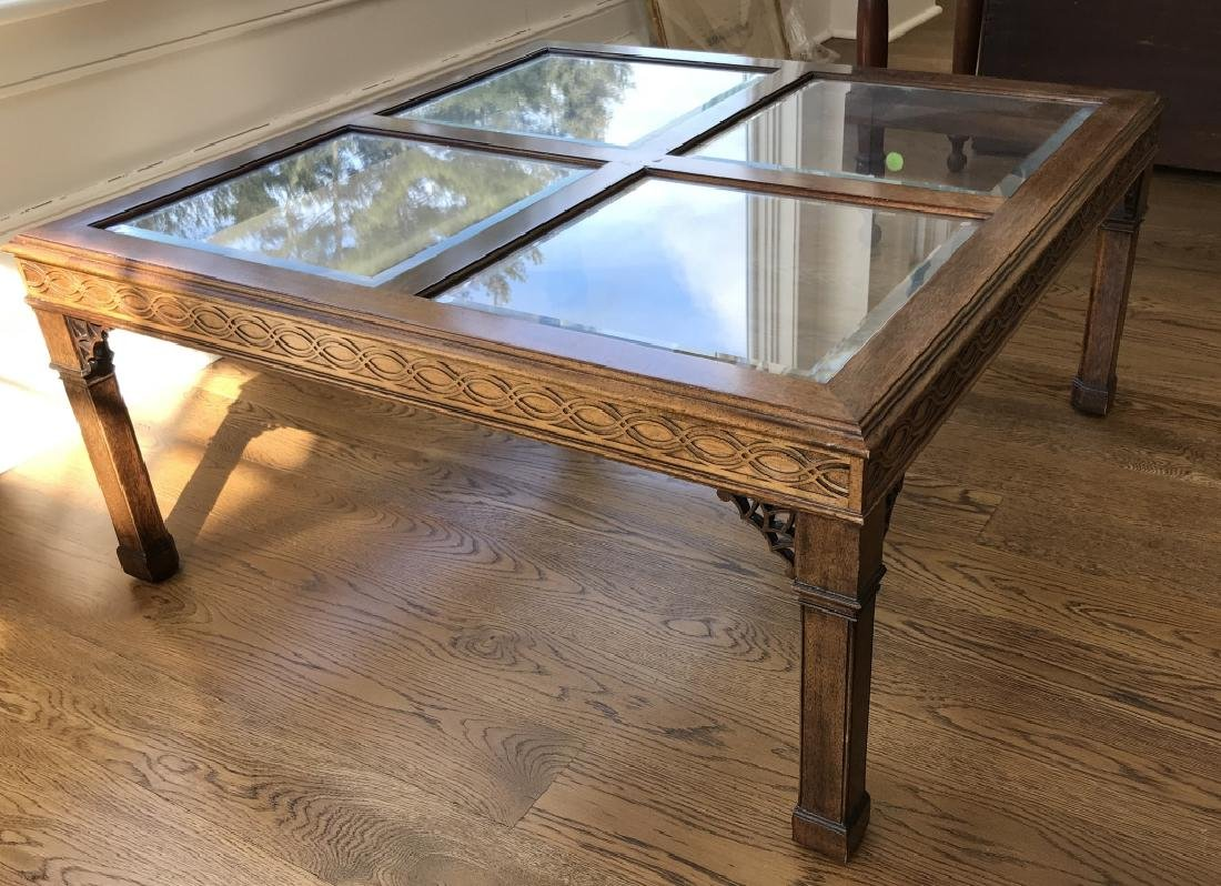 English Chippendale Style Coffee Table by Oxford
