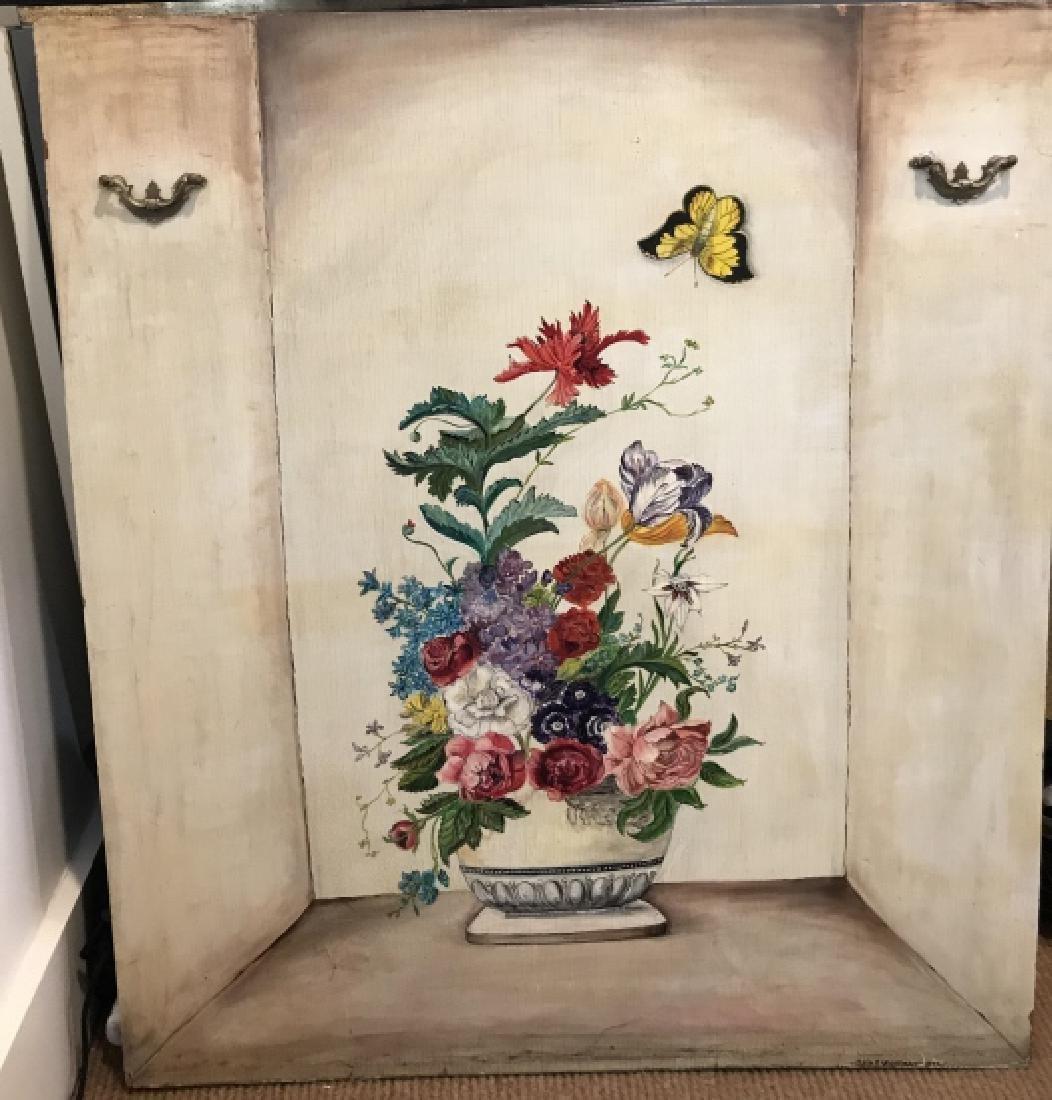 Hand Painted American Folk Art Still Life Panel