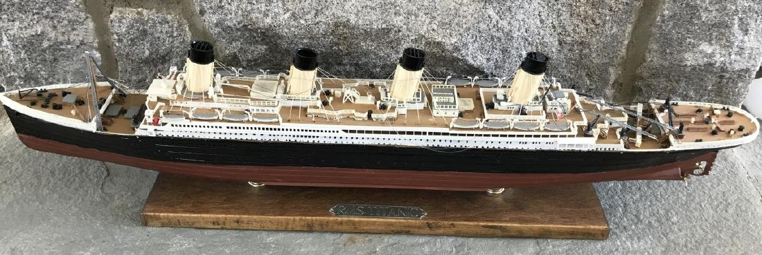 Vintage Hand Built Ship Model of the Titanic