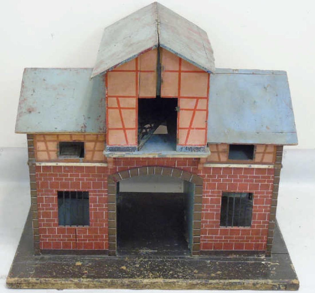 Antique 19th C American Folk Art Dollhouse Stable