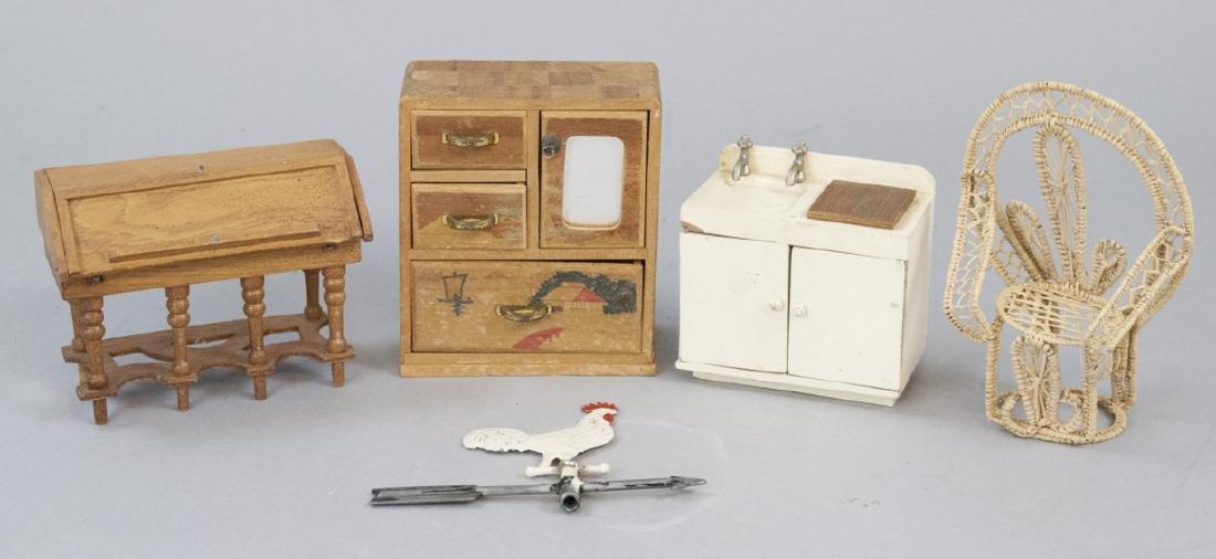 Antique Dollhouse German Made Miniature Furniture