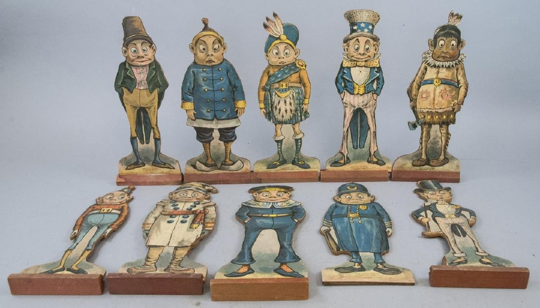Collection of 10 Antique Palmer Cox Brownie Dolls
