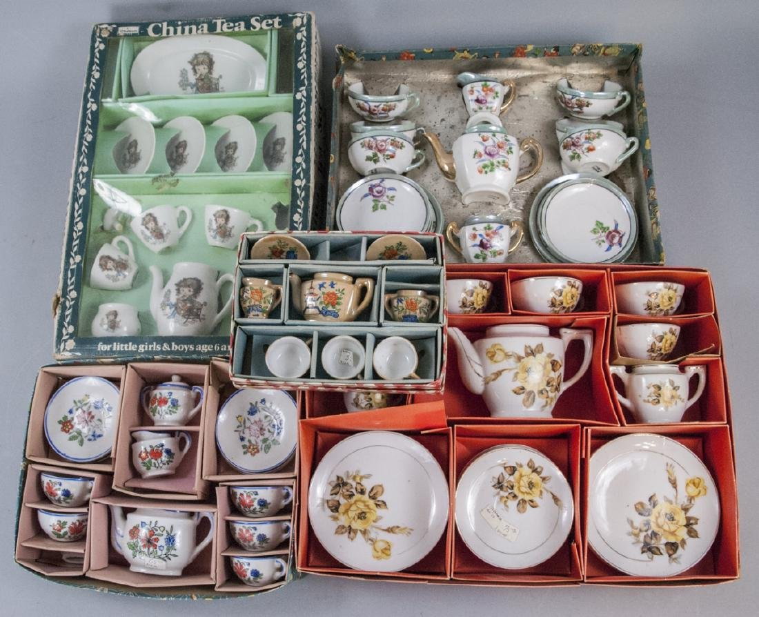Collection of Antique & Vintage Doll Size Tea Sets