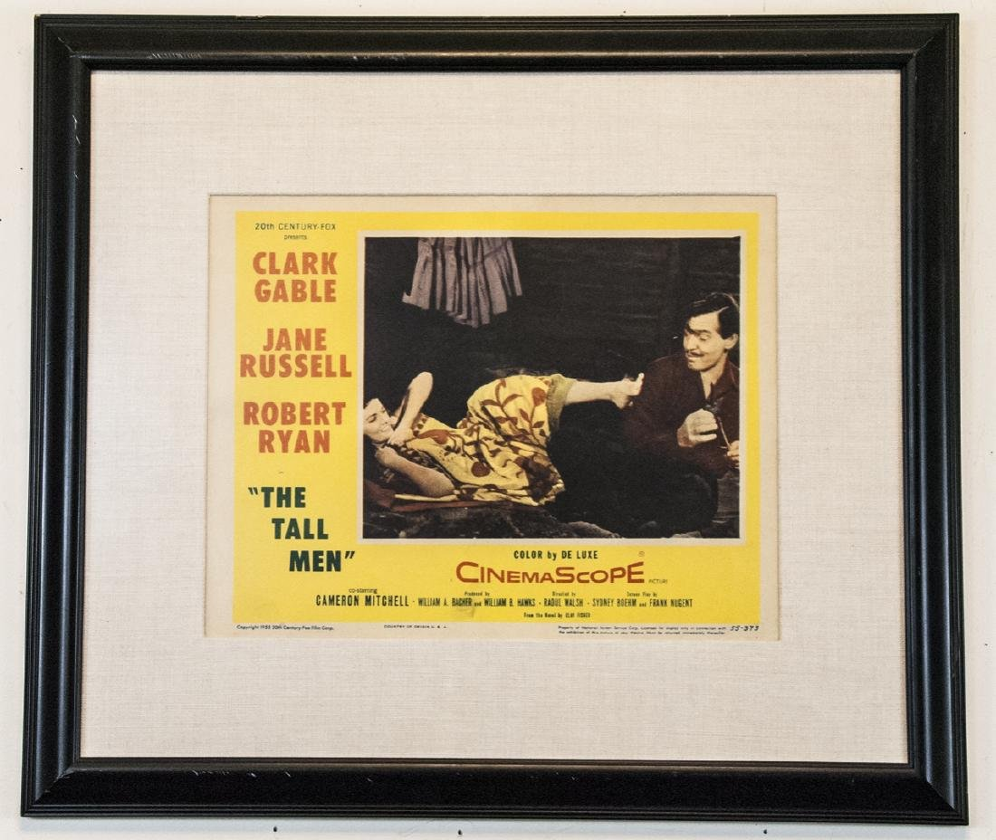 Vintage Framed Lobby Card The Tall Men 1955