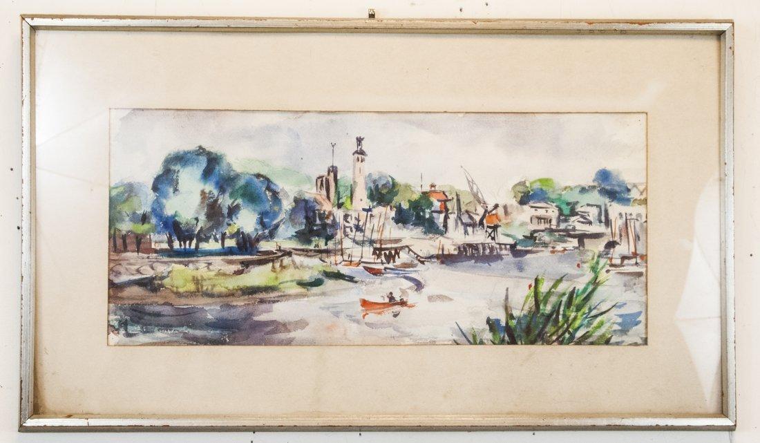 Grace Huntley Pugh 1912 -2010 Watercolor Painting