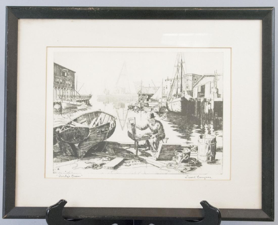 Lionel Barrymore 1878-1954 Signed & Framed Print