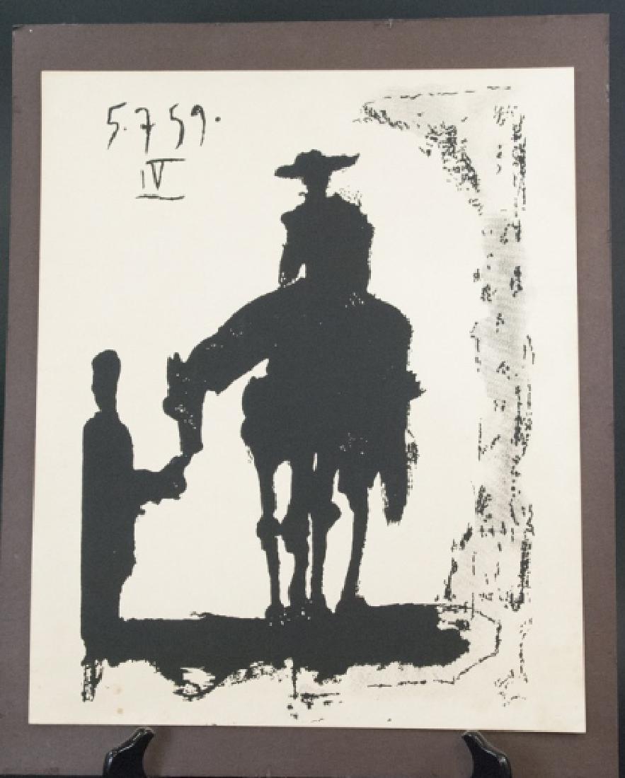 Pablo Picasso Mid Century Don Quixote Lithograph