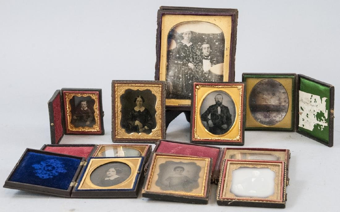 Collection of Antique 19th C Photographs in Cases