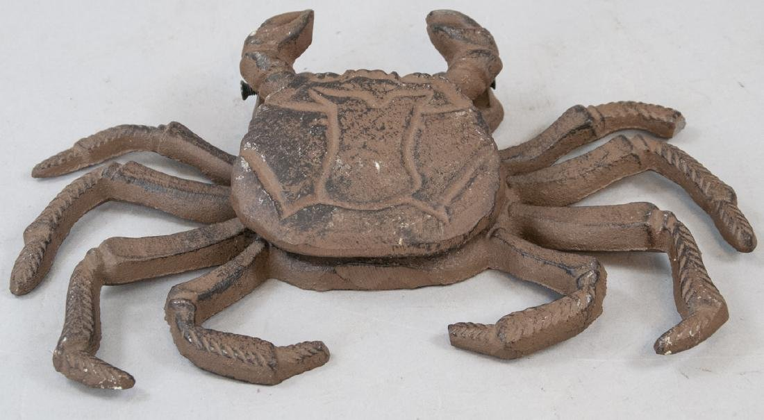 Figural Beach Horse Door Knocker of a Crab