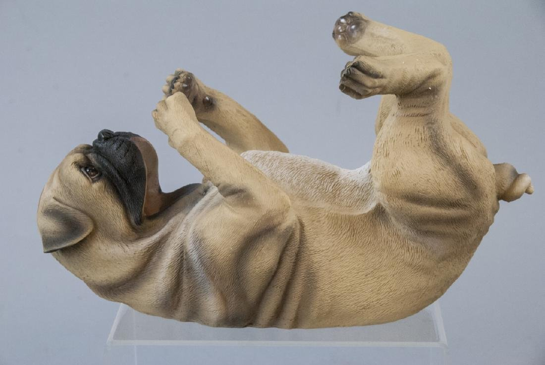 Figural Pug Wine or Champagne Bottle Caddy Statue