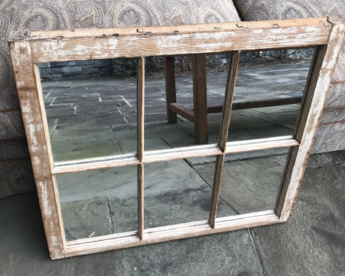 Antique 19th C Window Frame Converted to Mirror