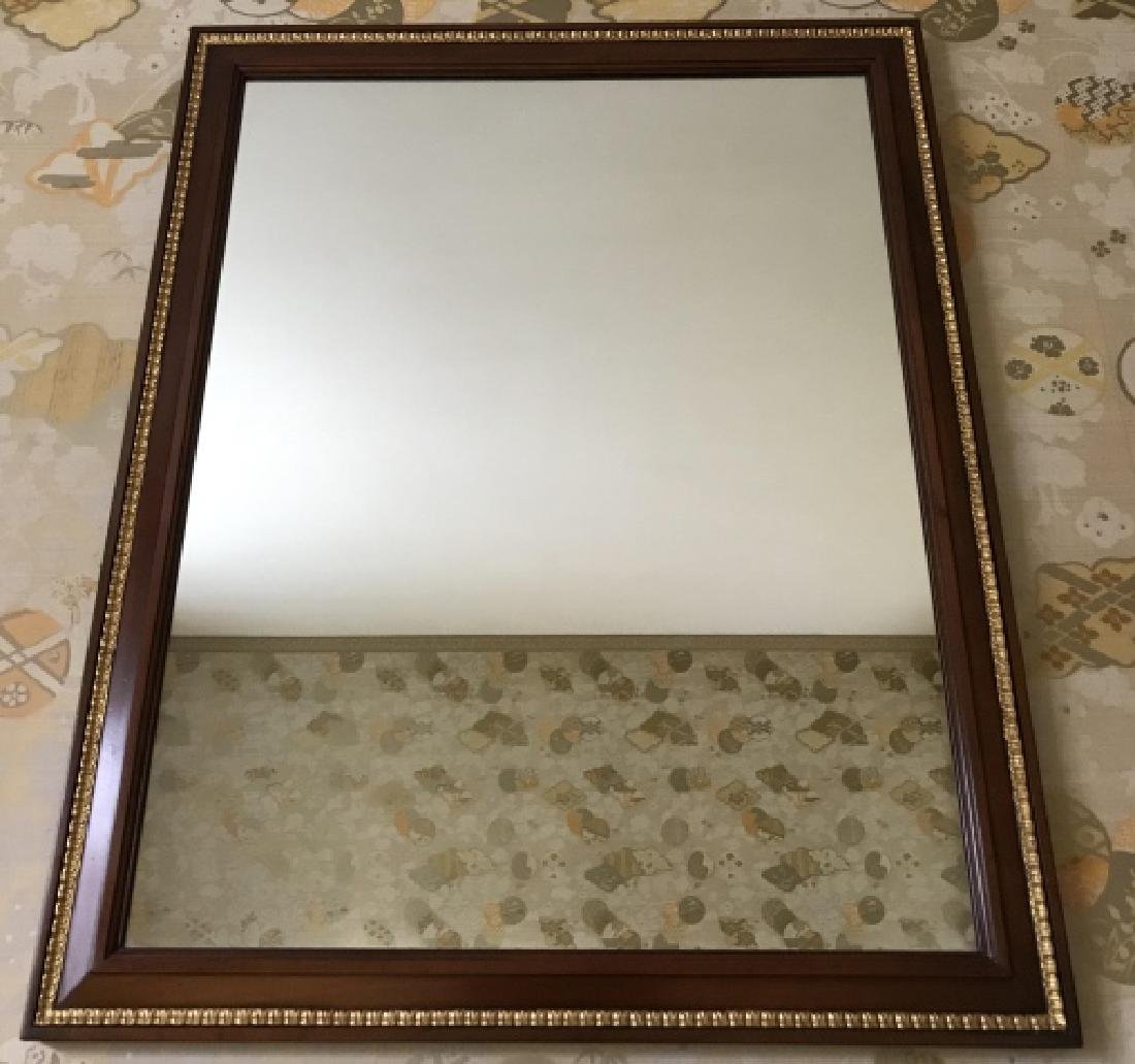 Mahogany & Gold Leaf Carved Frame Wall Mirror