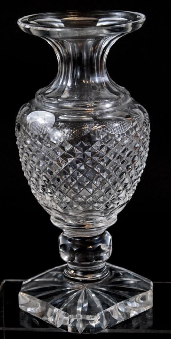 Brilliant Cut Crystal Balustrade Form Vase