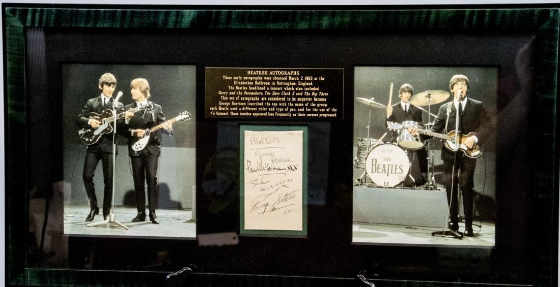 Framed Autographs of the Beatles w Full Provenance