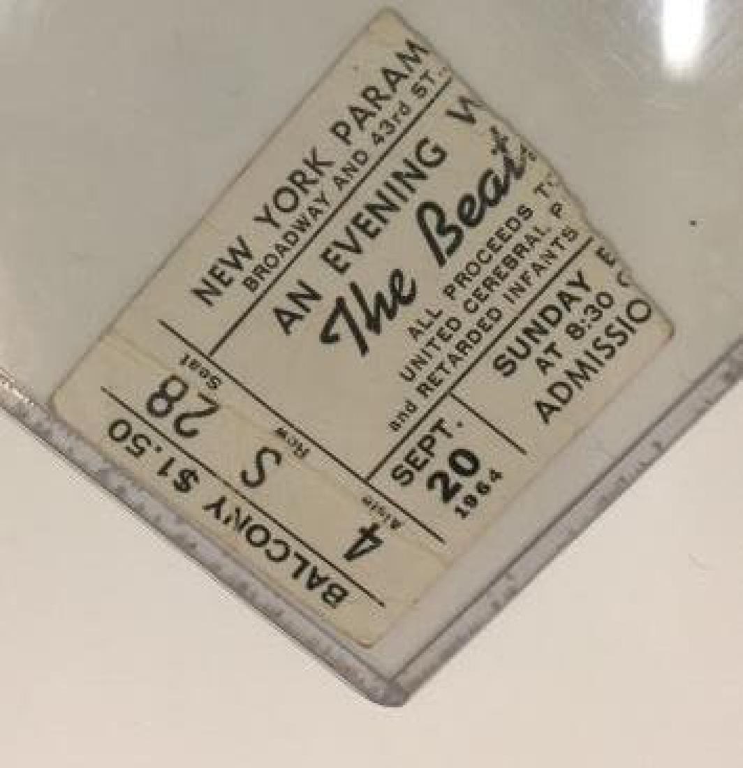 Beatles Paramount Theatre Ticket w Reprint Program