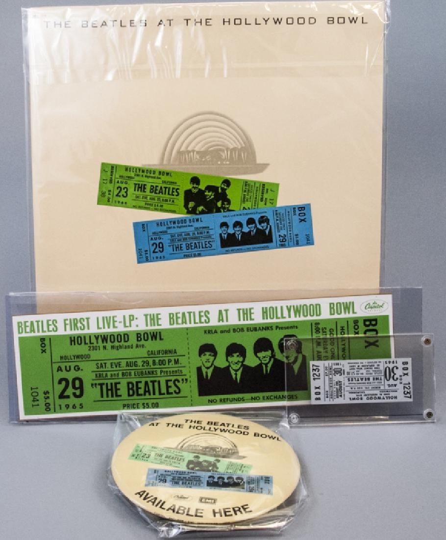 Rare Collection of Beatles Hollywood Bowl Items