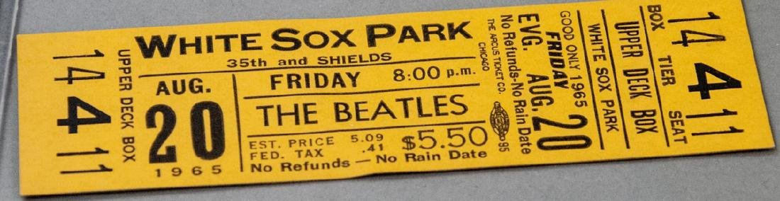 Beatles Unused Concert Ticket from 1965