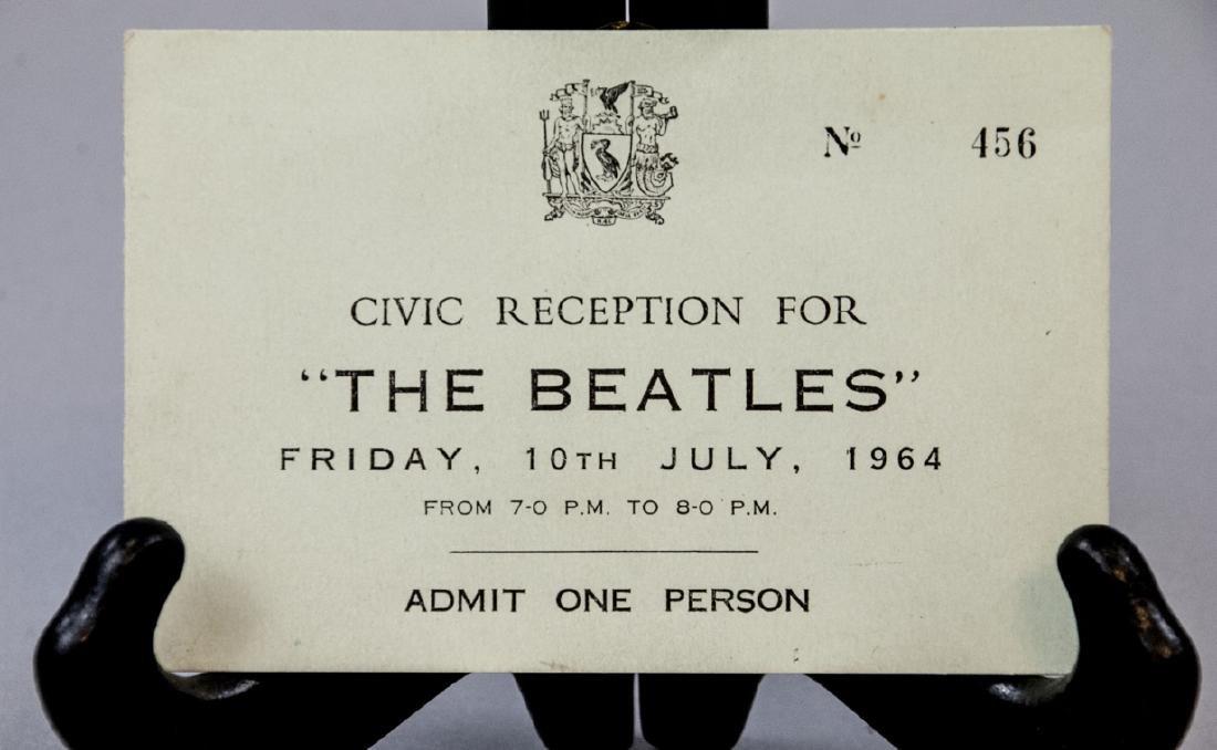 Beatles 1964 Hard Days Night Premiere Ticket