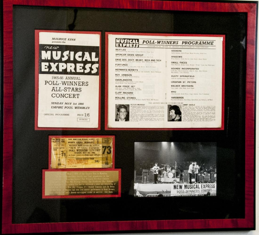 The Beatles 1966 Musical Express Ticket & Programs