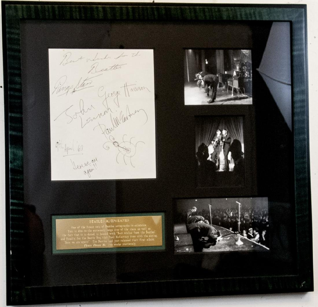 Rare Beatles Set of Signatures & Photographs