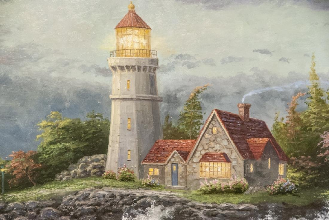 Oil on Canvas, Lighthouse on the Bluff