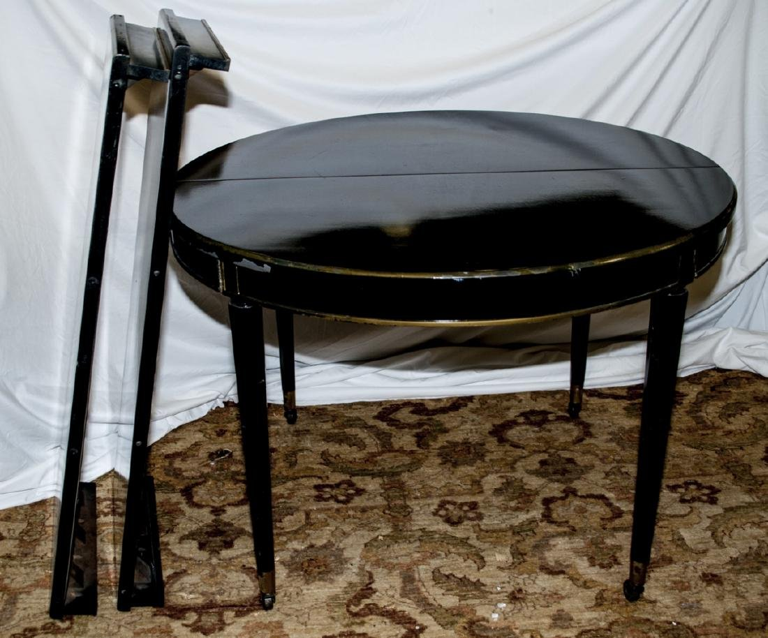 French Empire Style Ebony Tone Dining Table