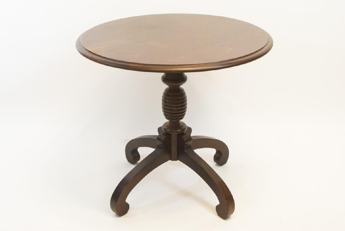 Contemporary Traditional Pedestal End Table