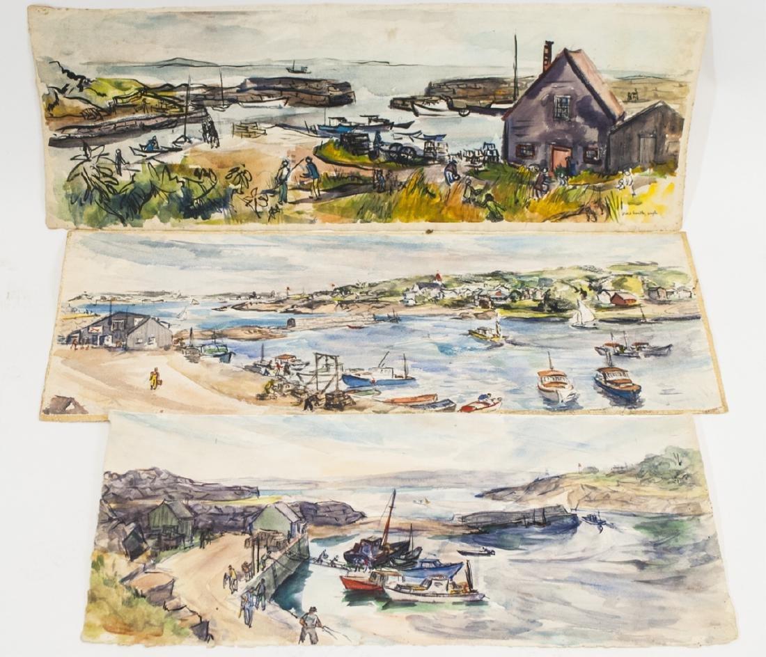 3 Oblong Orig Watercolors by Grace Huntley Pugh