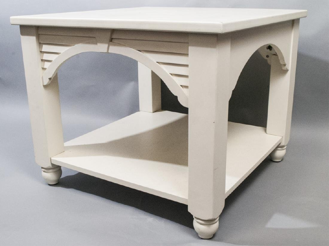 White Painted Wooden Side or Coffee Table