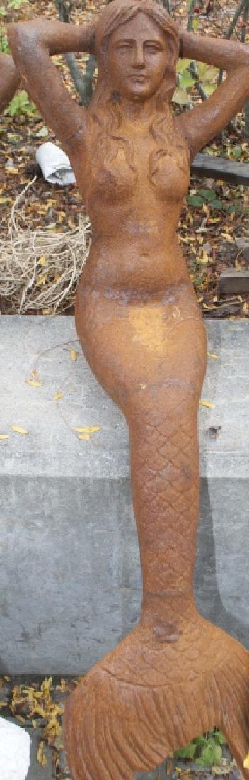 Ornamental Cast Iron Reclining Mermaid