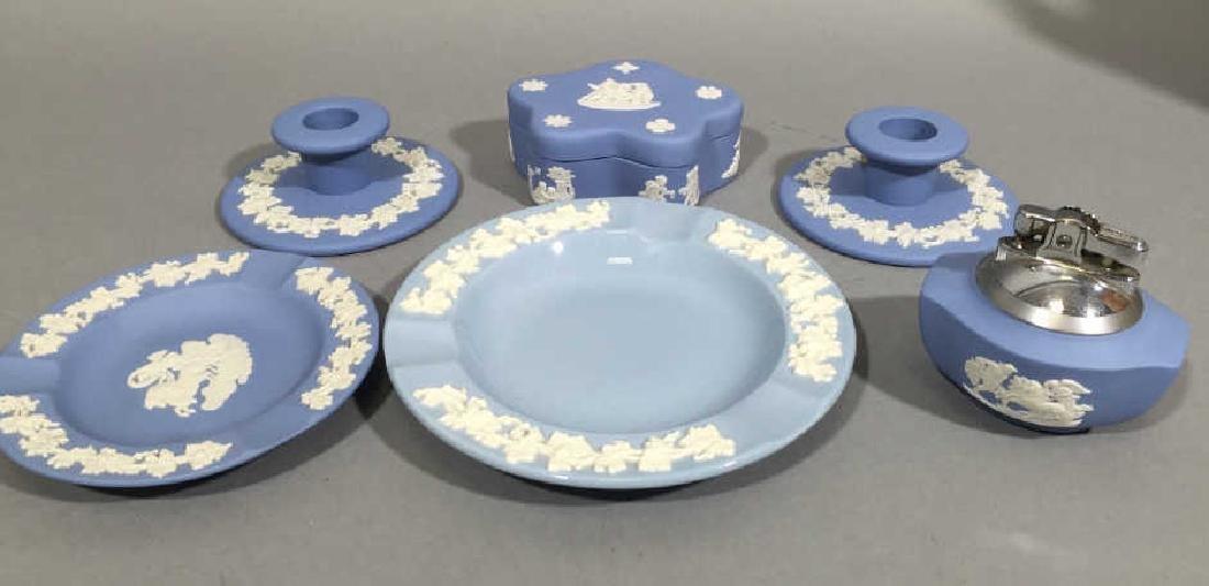 Collection of Wedgwood Blue Jasperware wLidded Box