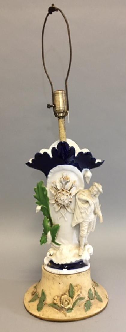 Old Paris Porcelain Figurine Lamp