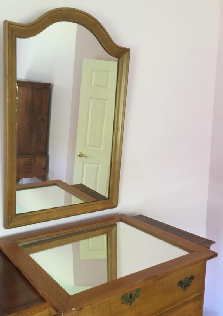 2 Country American Style Carved Wood Frame Mirrors