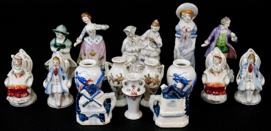 Assorted Lot Of 15 Japanese Porcelain Miniatures