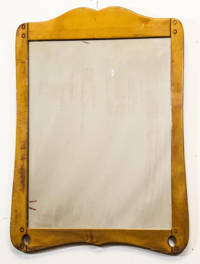 Antique Knotty Pine Wood Mirror