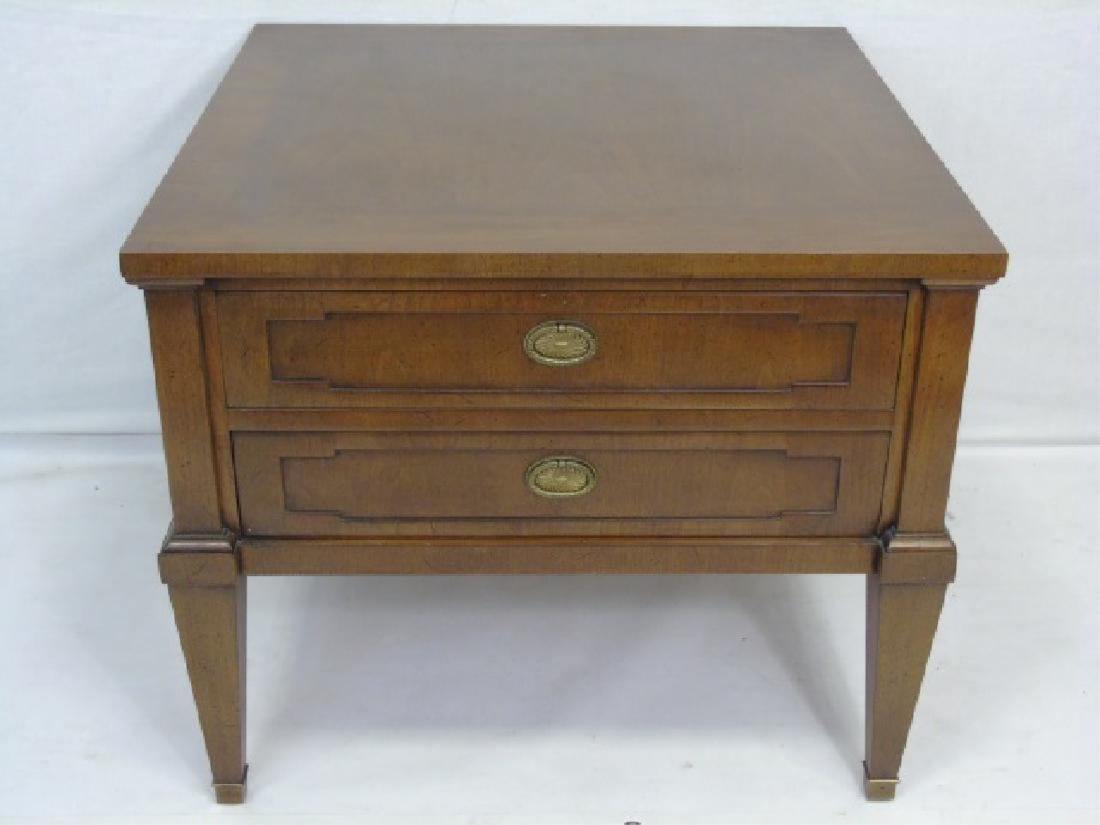 Mid Century Modern Nightstand / End Table. Two dra