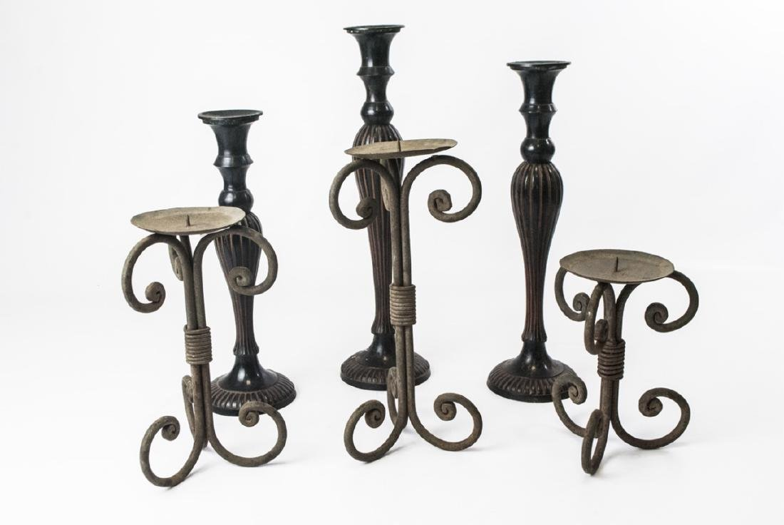 Two Set of Contemporary Decorative Candlesticks