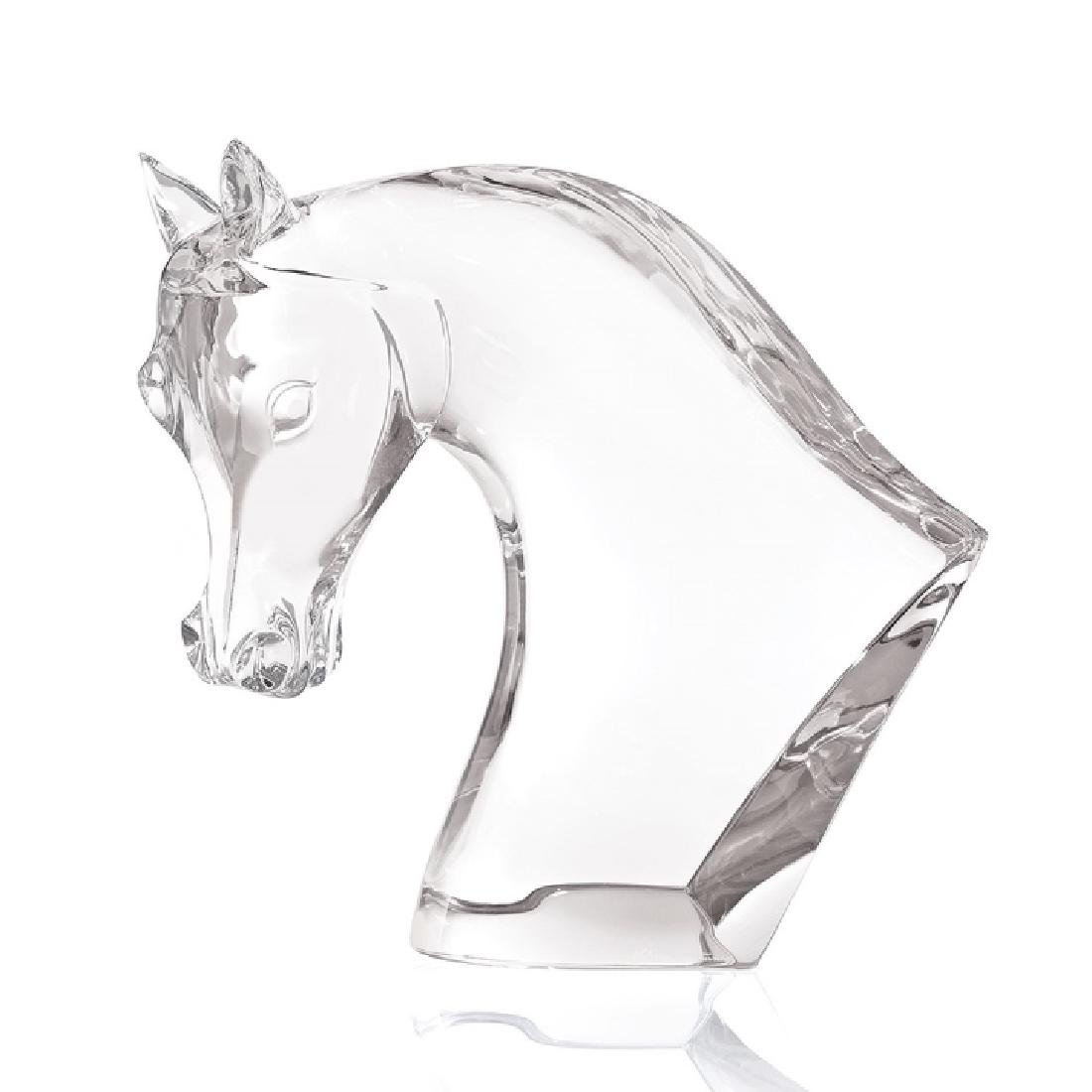 Lalique French Art Glass Large Scale Horse Statue