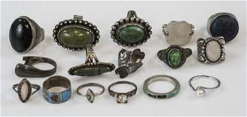 Collection Vintage Sterling & Silver Ladies Rings
