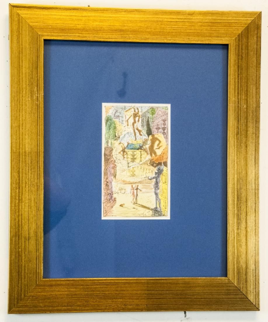 Framed Signed Salvador Dali Lithograph Print