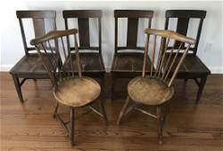Group of Six Antique Child Size / Doll Size Chairs