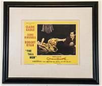 Vintage Framed Lobby Card The Tall Men 1955