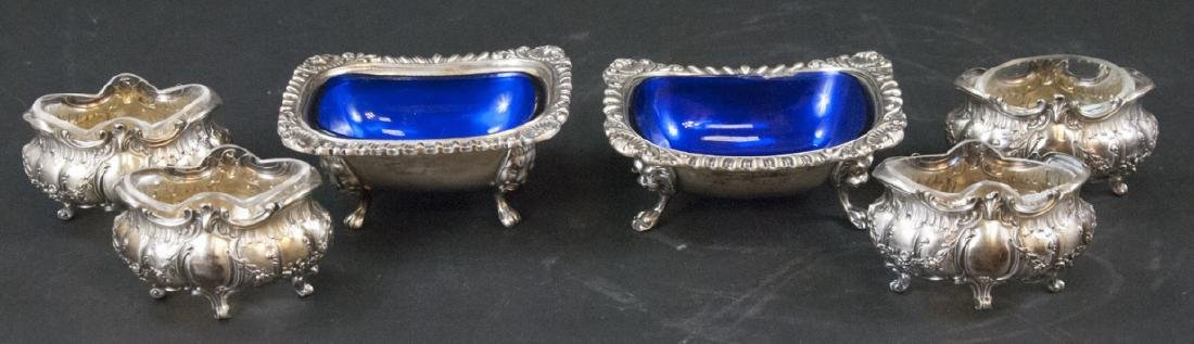Antique English & French Style Silver Plate Salts
