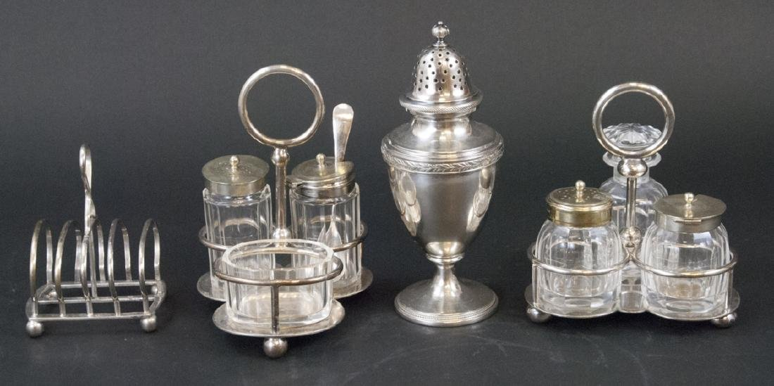 Collection of English Silver Plate Serving Items