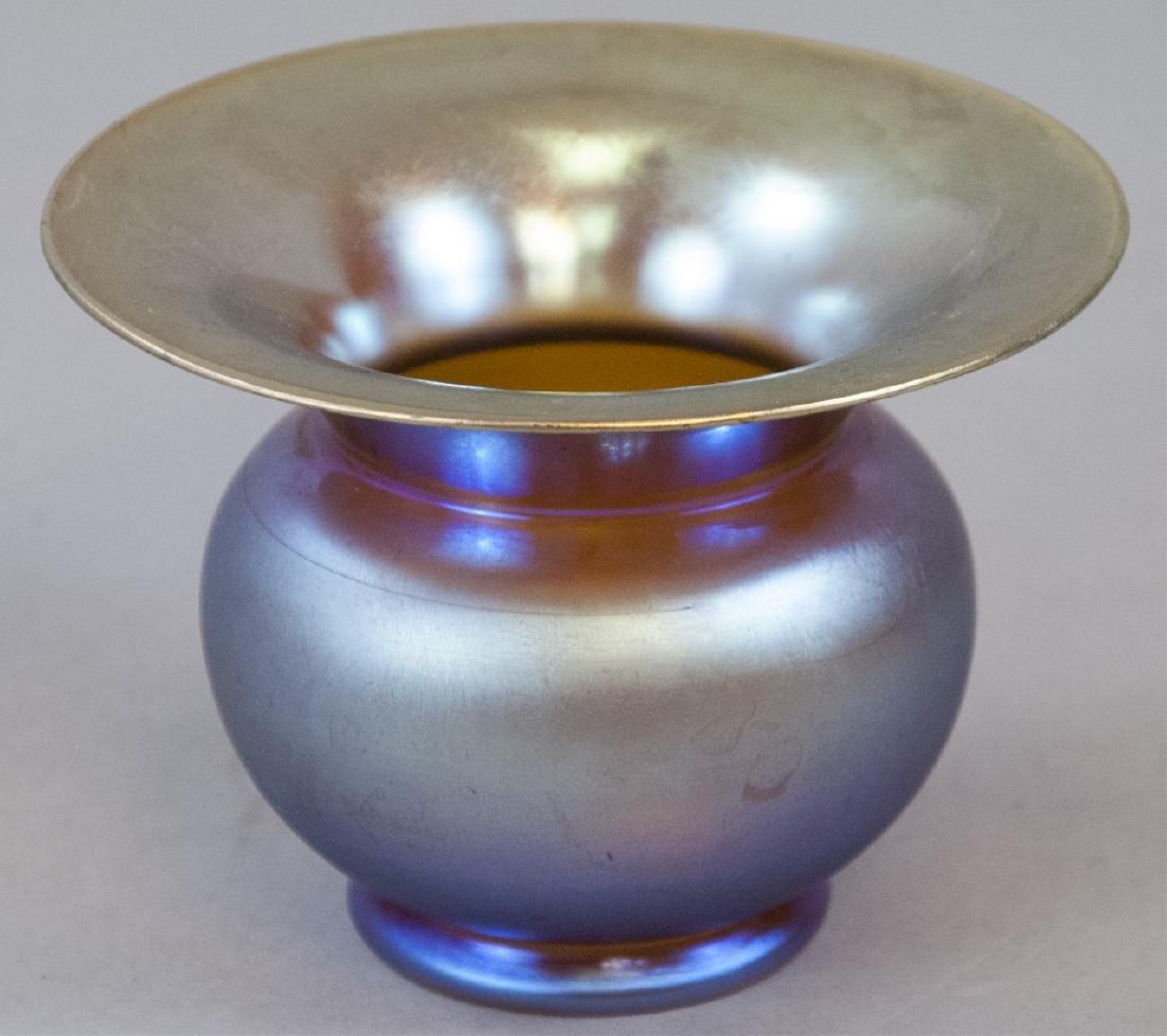 Antique Tiffany Favrile or Aurene Art Glass Vase