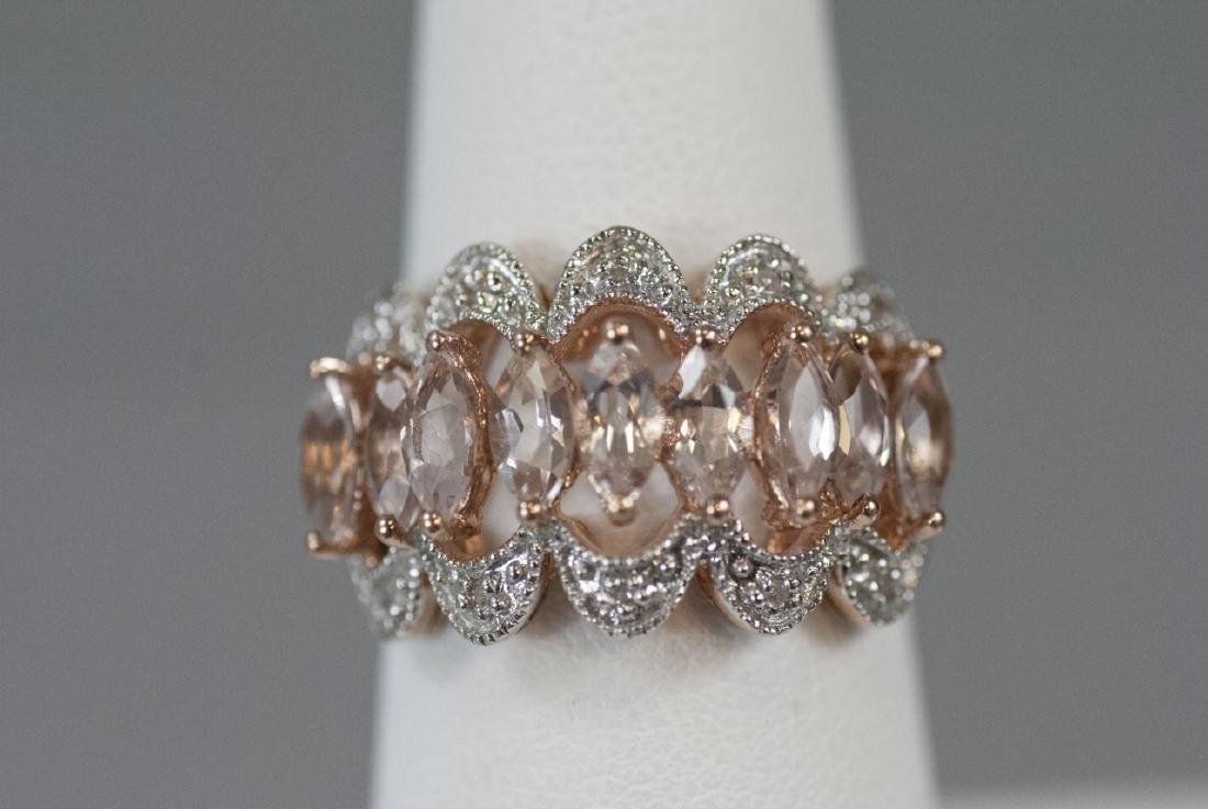 White Gold Morganite & Diamond Ring / Band
